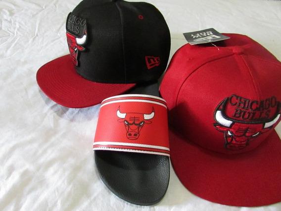 Chinelo Chicago Bulls E Boné Nba C Frete