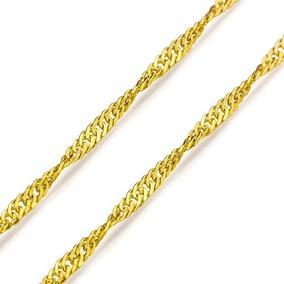 Gargantilha Maciça Ouro 18k Singapura 50cm - 1 Mm