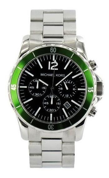 Relógio Michael Kors Mk8141 Orig Chron Silver Green