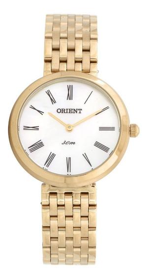 Relógio Orient Feminino Dourado Original C/ Nf Fgss0051 B3kx