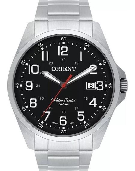 Relógio Orient Aço Prateado Original Preto Nf Mbss1171 P2sx