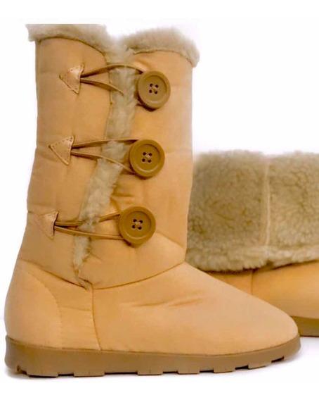 Bota Neve Frio Pelo Tipo Ugg 100% Forrada Inverno Moda