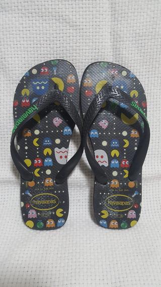 Sandália Chinelo Havaianas Preta Pac Man