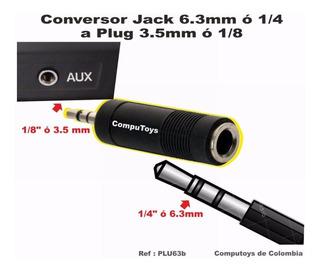 Zplu63b Conecte Microfono 1/4 A Plug 3.5 Qplu63bq Compu-toys