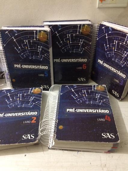 5 Apostilas Pré Universitário Sas 2018 + 5 Livros