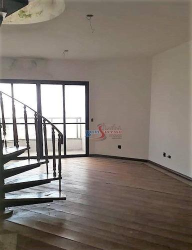 Imagem 1 de 29 de Cobertura Com 3 Dormitórios À Venda, 220 M² Por R$ 1.100.000,00 - Mooca - São Paulo/sp - Co0099