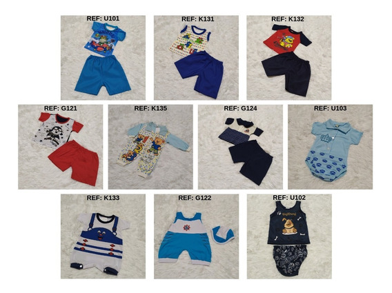 10 Roupas Body Roupinhas Conjuntos Bebê Menino Infantil Kit