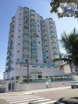 Apartamento Em Praia Grande, 02 Dormitórios Sendo 01 Suíte, 01 Vaga. Prédio Com Elevador No Forte Ap1690 - Ap1690