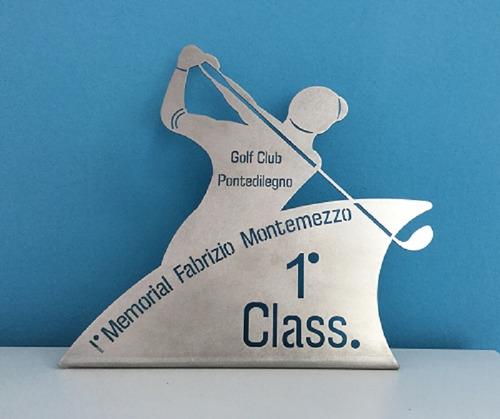 Imagen 1 de 7 de 21 Trofeo Placa Plateada Futbol Patin Tenis Golf  X 15 Cm
