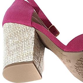 b613c46330 Sandalia Rosa Fucsia Salto Alto Feminino - Sapatos no Mercado Livre ...