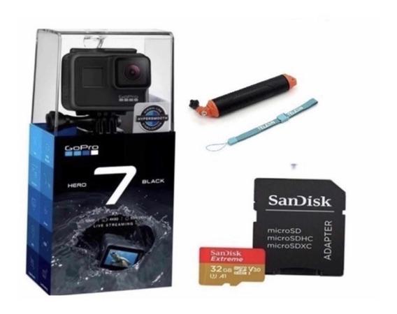 Câmera Digital Gopro Hero 7 Black 4k+sd 32+bastão Flutuant