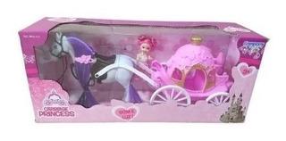 Brinquedo Carruagem Com Cavalo Para Princesas