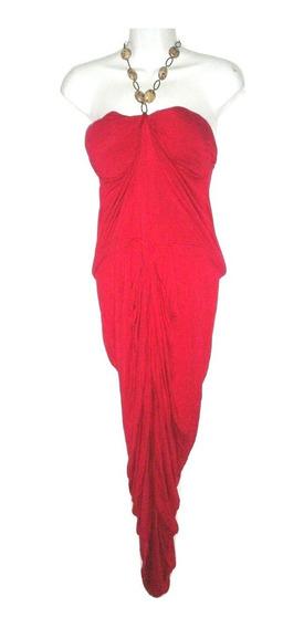 Vestido Largo Sin Hombros Tirante De Collar Seminuevo Talla L Corte Sirena $790a