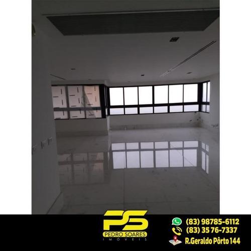 Imagem 1 de 21 de Cobertura Com 3 Dormitórios À Venda, 440 M² Por R$ 2.600.000 - Cabo Branco - João Pessoa/pb - Co0020