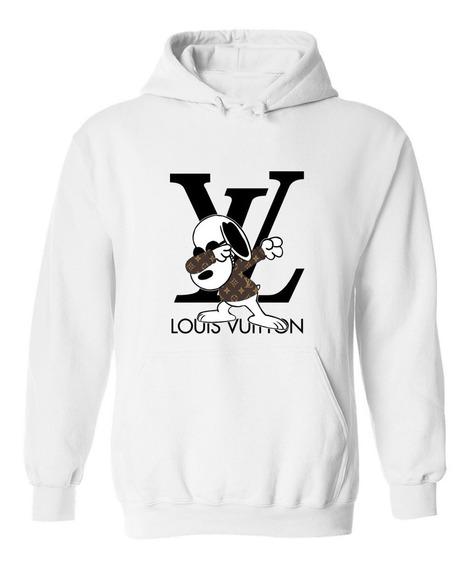 Sudadera Hoodie Snoopy Iniciales Louis Vuitton