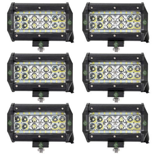 Faros Ultrapotentes Para Tractor 84w 28 Leds 8400lm X 6