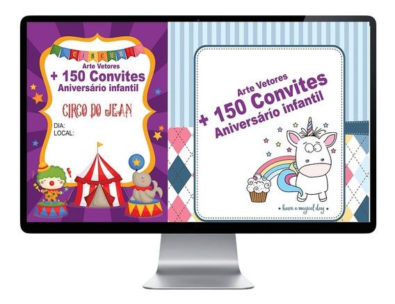 Artes Vetores De Convites De Aniversario Infantil 100% Edita