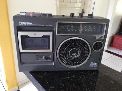 Rádio E Gravador Toshiba 6100  ( Auto Falante Queimado)