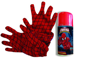 Guantes Spiderman + Aerosol