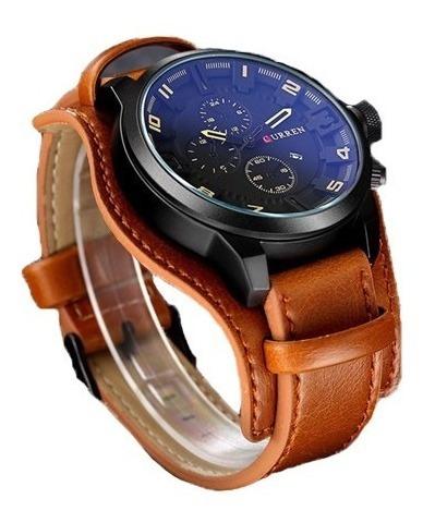 Relógio Curren 8225 Social Luxo Couro Promoção