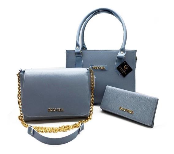 Bolsas Feminina Kit Com 3 Bolsas Grande Pequena Bau Carteira