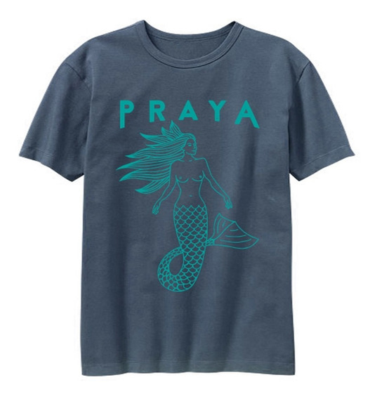 Camiseta Azul Sereya Verde