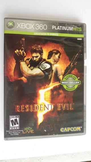 Resident Evil 5 Xbox 360 Mídia Física Capcom Platinum Hits