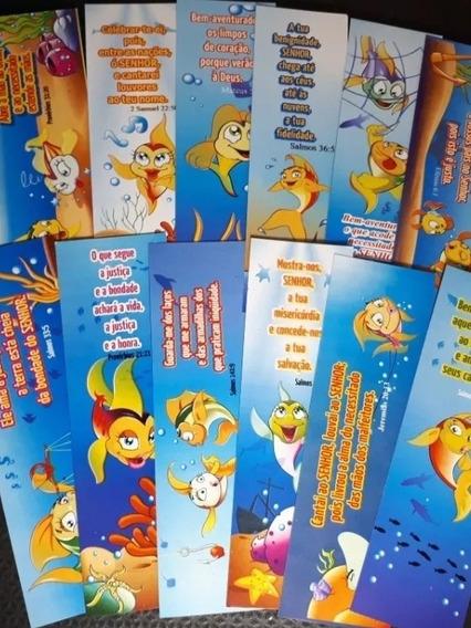 Marca Pagina Evangélico Modelo Peixe Com Mensagens 120 Und