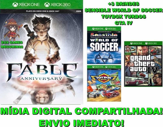 Fable Anniversary Xbox 360/one Mídia Digital +3 Brindes