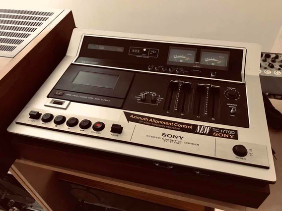 Tape Deck Toca Fita K7 Sony Tc177sd O Icônico 3 Head Regence
