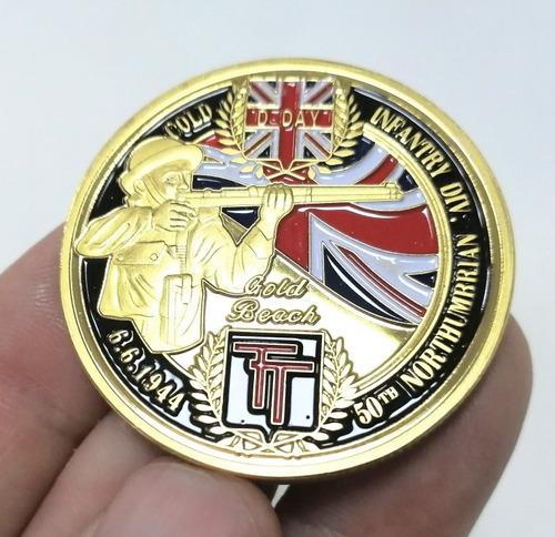 Imagen 1 de 10 de Moneda Militar, Día D, Canadienses Británicos, 1944
