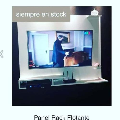 Panel Rack Flotante Para Tv Consolas Smart Módems Hasta 50
