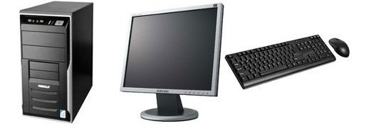 Cpu Completa Dual Monitor +teclado ,mouse Com Garantia 1 Ano