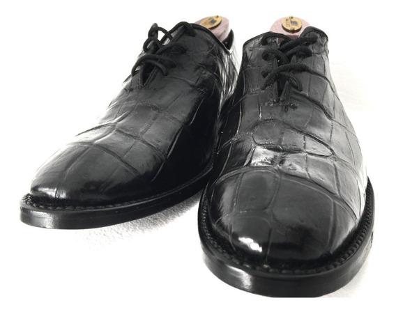 Zapatos De Lujo, Piel De Cocodrilo Original, Diseño Italiano