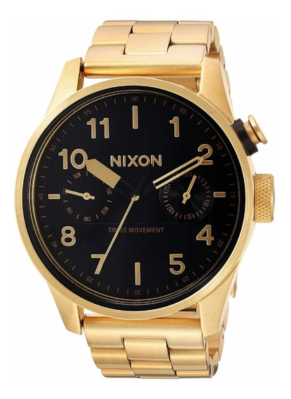 Relógio Nixon Safari Deluxe Dourado A976 10-00