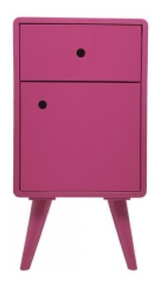 Criado Mudo Antigo Vintage Mdf Pink
