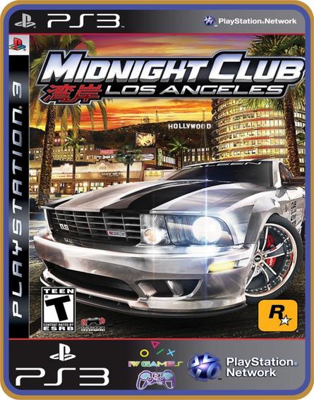 Midnight Club Los Angeles, Ps3, Psn, Mídia Digital