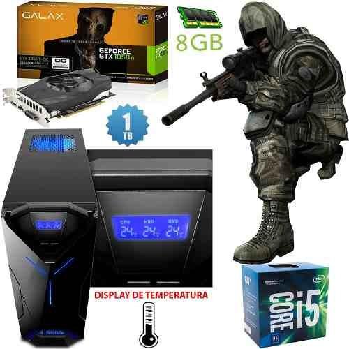 Pc Gamer Gtx 1050ti 4 Gb, I5 7ª Geração, 1tb, 8gb, Roda Tudo