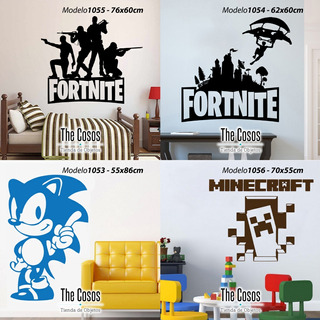 Vinilos Decorativos Pared Video Juegos Sonic Fortnite Mario