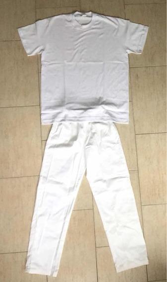 Kit Buzo, Remera Y Pantalon Blanco