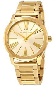 Relógio Feminino Michael Kors Aço Dourado Romanos Mk3490