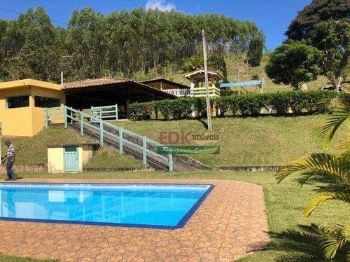 Imagem 1 de 14 de Chácara Com 5 Dormitórios À Venda, 15700 M² Por R$ 700.000,00 - Centro - Santa Branca/sp - Ch0757