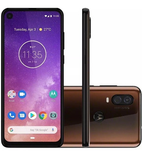 Smartphone Motorola One Vision 128gb Vitrine , 12x Sem Juros