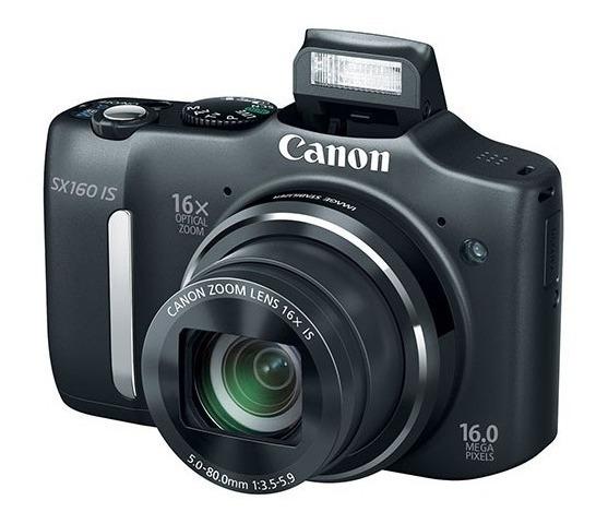 Câmera Digital Canon Powershot Sx160 Is Preta Com Lcd 3.0