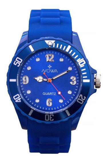 Relógio Masculino Nowa Borracha Nw0522ak Azul Original