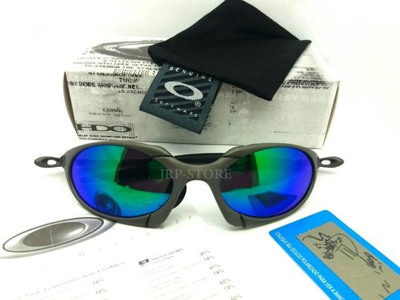 Oculos Lupa Oakley Romeo 1 X Metal Lentes Verde Polarizadas