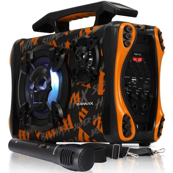 Caixa Som 120w Bluetooth Portátil Gravadora Mp3 Usb Rádio Fm