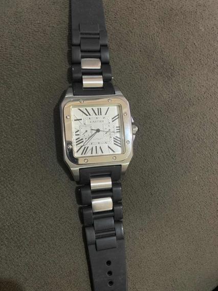 Relógio Cartier Santos 100 Automático Com Calendário