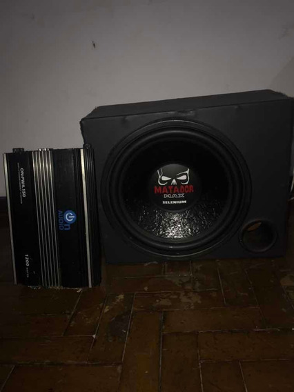 Amplificador De Som E Caixa Velada