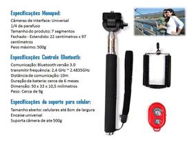 Bastao Selfie Monopod Z07-1 Com Controle Bluetooth